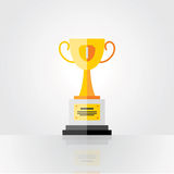 Tazza dorata del vincitore, primo posto Immagine Stock Libera da Diritti