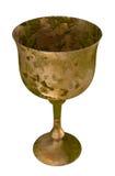 Tazza dorata dell'oggetto d'antiquariato del sacro Graal del calice immagini stock