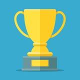 Tazza dorata per il primo posto Trofeo dorato della ciotola per il vincitore Assegna il simbolo Fotografia Stock Libera da Diritti