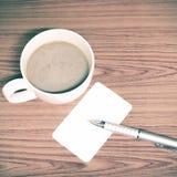 Tazza e biglietto da visita di caffè Immagini Stock