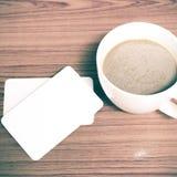 Tazza e biglietto da visita di caffè Immagine Stock Libera da Diritti