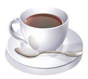 Tazza e cucchiaio di Coffe Fotografia Stock