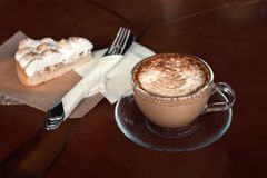 Tazza e dessert di caffè Fotografie Stock