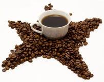 Tazza e fagioli di caffè Fotografia Stock