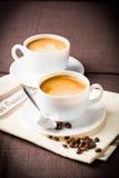 Tazza e fagioli di caffè Immagine Stock Libera da Diritti