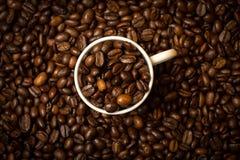 Tazza e fagioli di caffè immagini stock libere da diritti
