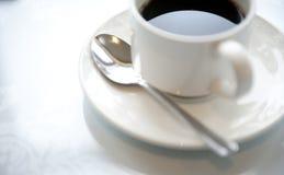 Tazza e piattino di caffè Fotografia Stock Libera da Diritti