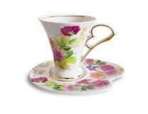 Tazza e piattino di ceramica Fotografie Stock Libere da Diritti