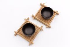 Tazza e sottobicchieri di tè della Cina Fotografie Stock