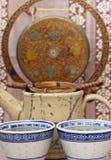 Tazza e teiera Fotografia Stock Libera da Diritti
