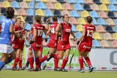 Tazza europea Germania 2011 del Belgio v Italy.Hockey Fotografie Stock Libere da Diritti