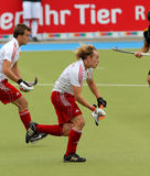 Tazza europea Germania 2011 dell'Inghilterra V Belgium.Hockey Immagine Stock