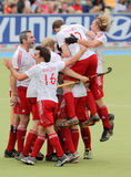 Tazza europea Germania 2011 dell'Inghilterra V Belgium.Hockey Fotografia Stock