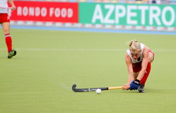 Tazza europea Germania 2011 dell'Inghilterra v Ireland.Hockey Fotografie Stock