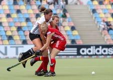 Tazza europea Germania 2011 della Germania V Belgium.Hockey Fotografie Stock Libere da Diritti