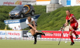 Tazza europea Germania 2011 della Germania V Belgium.Hockey Fotografia Stock