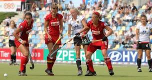 Tazza europea Germania 2011 della Germania V Belgium.Hockey Fotografie Stock