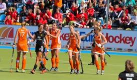 Tazza europea Germania 2011 di Finals.Hockey delle donne Immagini Stock Libere da Diritti