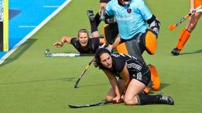 Tazza europea Germania 2011 di Finals.Hockey delle donne Fotografie Stock