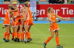 Tazza europea Germania 2011 di Finals.Hockey delle donne Immagine Stock Libera da Diritti