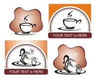 Tazza a forma di del cuore per gli amanti del caffè immagini stock libere da diritti