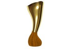 Tazza futuristica del trofeo isolata su priorità bassa bianca Fotografie Stock Libere da Diritti