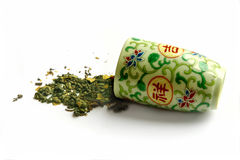 Tazza per il tè verde del ulun Fotografia Stock