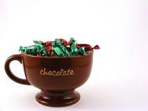 Tazza piena del cioccolato Fotografia Stock