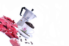 tazza riempita di caffè Fotografia Stock Libera da Diritti