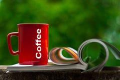 Tazza rossa Fotografia Stock