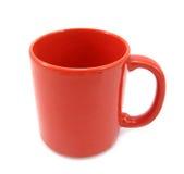 Tazza rossa bella Fotografia Stock Libera da Diritti
