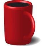 Tazza rossa con caffè Immagine Stock Libera da Diritti
