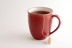 Tazza rossa del tè Fotografie Stock
