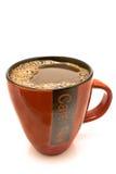 Tazza rossa di caffè nero Immagine Stock