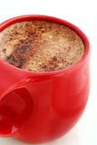 Tazza rossa di cioccolato caldo #2 Fotografia Stock Libera da Diritti