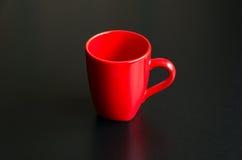 Tazza rossa vuota Fotografie Stock