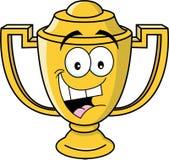 Tazza sorridente del trofeo del fumetto Fotografia Stock Libera da Diritti