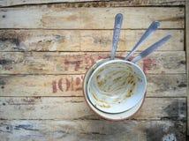 Tazza su legno Fotografie Stock
