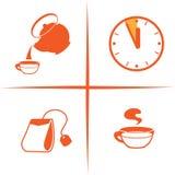 Tazza, tempo, teiere Fotografia Stock