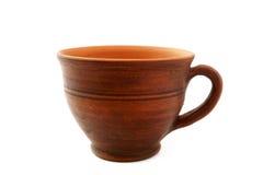 Tazza tradizionale dell'argilla Fotografie Stock Libere da Diritti