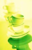 Tazza verde Immagini Stock Libere da Diritti