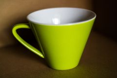 Tazza verde Fotografia Stock