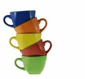 Tazze astratte di colore Fotografia Stock Libera da Diritti