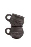 Tazze ceramiche per tè Fotografia Stock Libera da Diritti