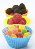 Tazze colorate dei fagioli di gelatina Fotografie Stock Libere da Diritti