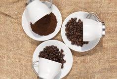 Tazze con caffè Fotografia Stock