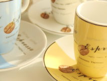 Tazze del caffè espresso Fotografie Stock