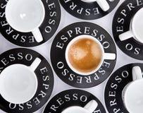Tazze del caffè espresso Fotografie Stock Libere da Diritti