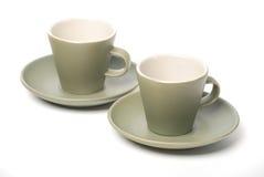Tazze del caffè espresso Immagini Stock