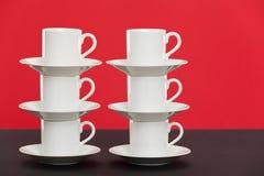 Tazze del caffè espresso immagazzinate Fotografia Stock Libera da Diritti